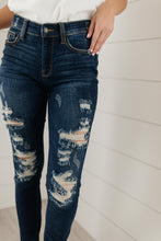 Load image into Gallery viewer, Ripped and Torn Dark Wash Jeans - Onyx & Oak Boutique