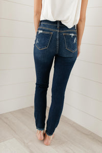 Ripped and Torn Dark Wash Jeans - Onyx & Oak Boutique