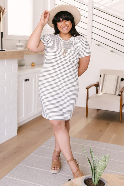 Stockholm Stripes T-Shirt Dress - Onyx & Oak Boutique