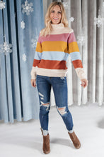 Load image into Gallery viewer, Stripes And A Turtle Neck Sweater - Onyx & Oak Boutique