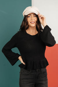 The Hadlee Babydoll Sweater - Onyx & Oak Boutique