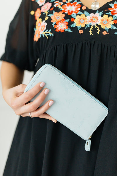 The Perfect Clutch in Mint Blue - Onyx & Oak Boutique