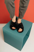 Load image into Gallery viewer, Toasty But Mostly Cozy Black Slippers - Onyx & Oak Boutique
