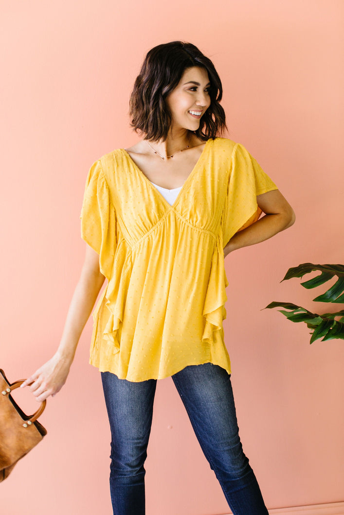 Fly Away Home Blouse In Honey - Onyx & Oak Boutique