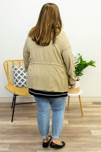 Khaki Anorak Jacket - Onyx & Oak Boutique