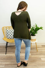 Load image into Gallery viewer, Amber Keyhole Top in Olive - Onyx & Oak Boutique