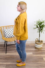 Load image into Gallery viewer, Stand Your Ground Mustard Sweater - Onyx & Oak Boutique
