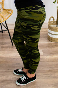 Buttery Soft Camo Leggings - Onyx & Oak Boutique