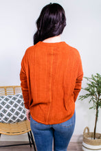 Load image into Gallery viewer, Raw Hem Button Down Cardigan in Rust - Onyx & Oak Boutique