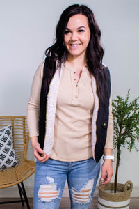 Keep it up Buttercup Henley in Oatmeal - Onyx & Oak Boutique