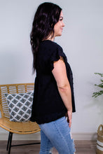 Load image into Gallery viewer, Pom Pom Babydoll Top in Black - Onyx & Oak Boutique