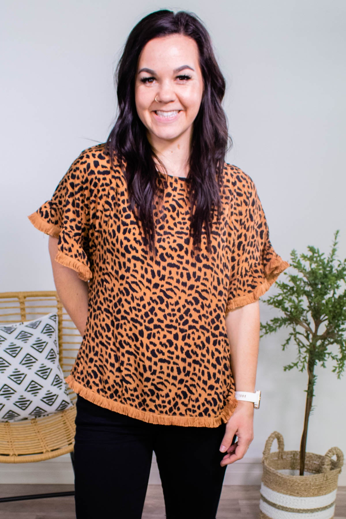 Wild Nights Leopard Top - Onyx & Oak Boutique