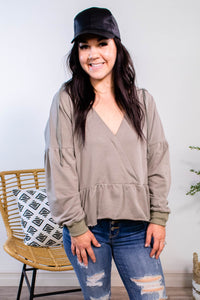 Tell Me Why Cropped Ruffle Hoodie - Onyx & Oak Boutique