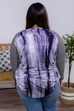 Load image into Gallery viewer, Shelby Black Tie Dye and Stripe Sleeve Top - Onyx & Oak Boutique