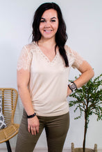 Load image into Gallery viewer, Lovely Lace Cream Top - Onyx & Oak Boutique