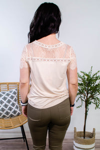 Lovely Lace Cream Top - Onyx & Oak Boutique