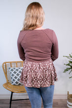 Load image into Gallery viewer, Fauna Spotted Babydoll Top in Mauve - Onyx & Oak Boutique