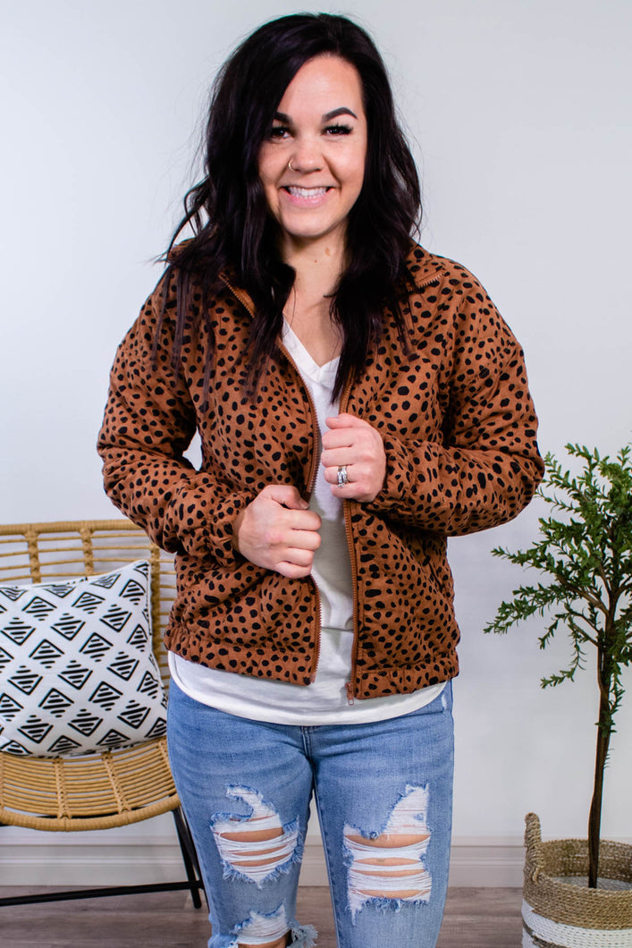Denise Quilted Spotted Jacket - Onyx & Oak Boutique