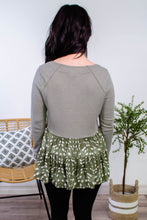 Load image into Gallery viewer, Fauna Spotted Babydoll Top in Olive - Onyx & Oak Boutique