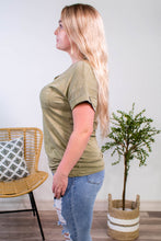 Load image into Gallery viewer, Treat You Right Tee in Olive - Onyx & Oak Boutique