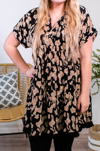 Aubrey Animal Print Dress - Onyx & Oak Boutique