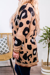 Wish You Well Leopard Cardigan - Onyx & Oak Boutique