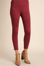 Load image into Gallery viewer, Moto Jeggings in Wine - Onyx & Oak Boutique