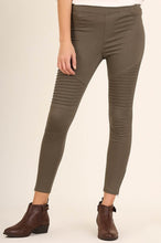 Load image into Gallery viewer, Moto Jeggings in Olive - Onyx & Oak Boutique