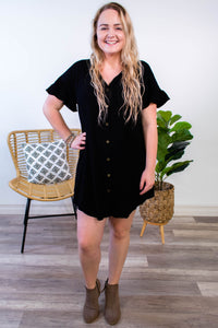 Jamie Button Down Shirt Dress - Onyx & Oak Boutique