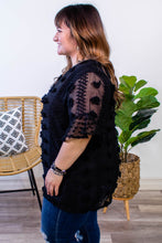 Load image into Gallery viewer, Lottie Dotted Swiss Top in Black - Onyx & Oak Boutique