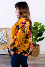 Load image into Gallery viewer, Maybe it's You Mustard Floral Tie Top - Onyx & Oak Boutique