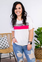 Load image into Gallery viewer, Stay Sassy Ivory Colorblock Top - Onyx & Oak Boutique