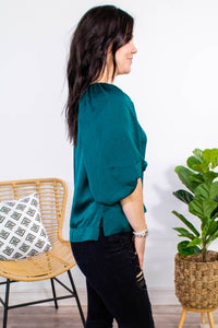 Through the Trees Balloon Sleeve Blouse - Onyx & Oak Boutique
