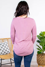 Load image into Gallery viewer, Essential V-Neck Long Sleeve in Rose - Onyx & Oak Boutique