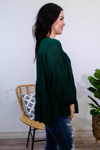 Forest Long Sleeve Tiered Top - Onyx & Oak Boutique