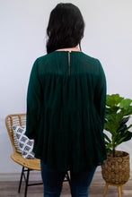 Load image into Gallery viewer, Forest Long Sleeve Tiered Top - Onyx & Oak Boutique