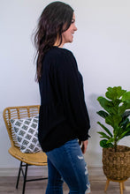 Load image into Gallery viewer, Pretty Please Long Sleeve Top in Black - Onyx & Oak Boutique