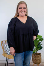 Load image into Gallery viewer, Marina Long Sleeve Blouse in Black - Onyx & Oak Boutique