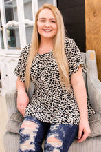 Load image into Gallery viewer, Snow Leopard Tiered Babydoll Top - Onyx & Oak Boutique