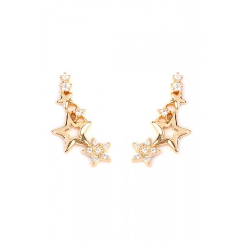 Seeing Stars Crawler Earrings (Gold)