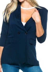 Navy Button Blazer