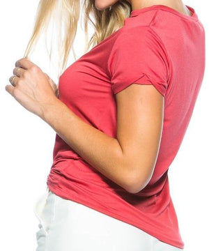 SUPER SOFT CHOKER TEE (RED)
