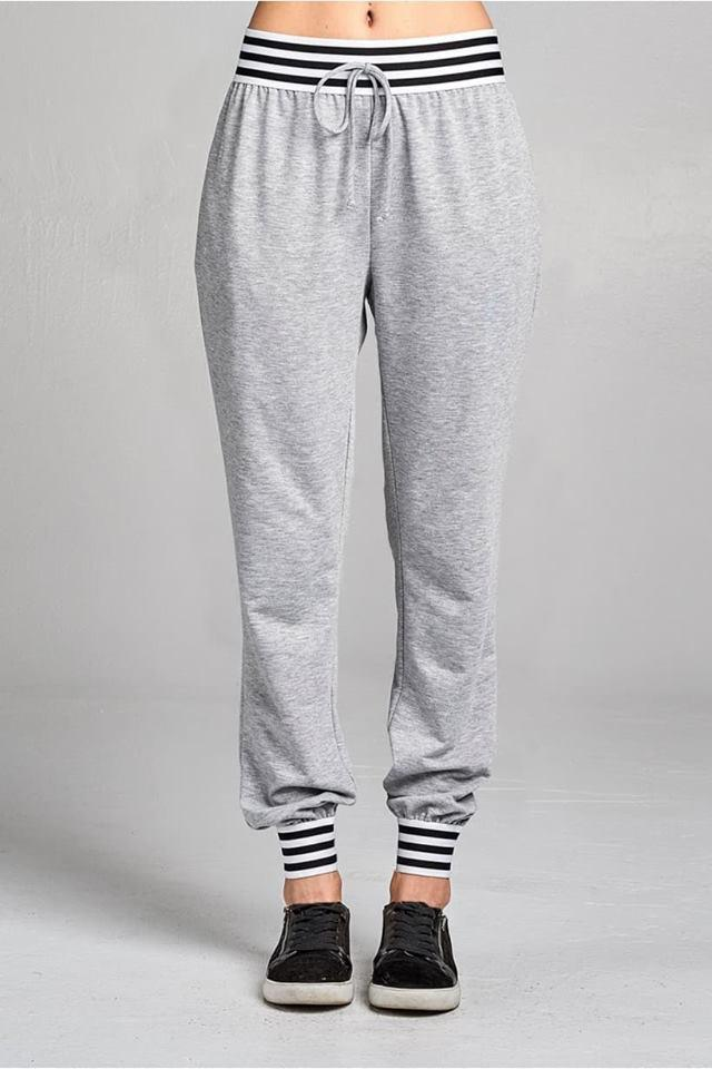 Striped Banded Gray Joggers