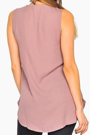 Mauve Zippered Tank