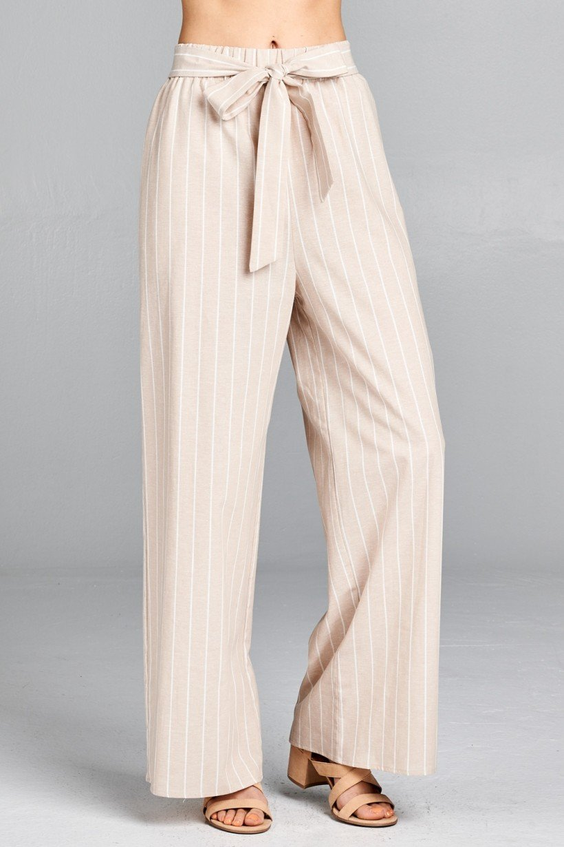 SPRING VIBES STRIPED TIE WIDE LEG PALAZZO PANTS