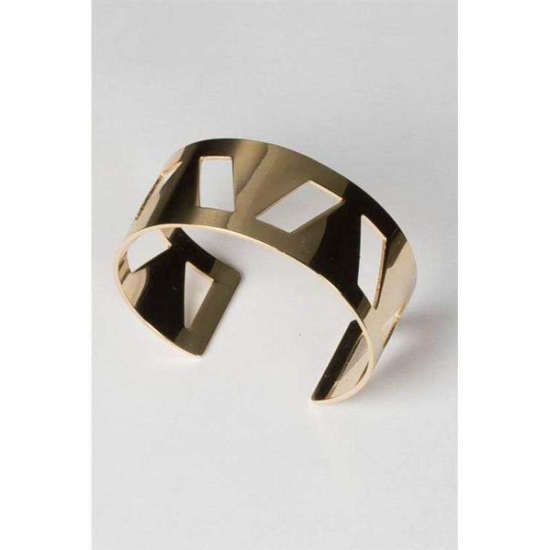 GEO CUT-OUT BANGLE (GOLD)