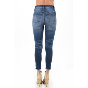 Cally Frayed Skinny Ankle Jeans