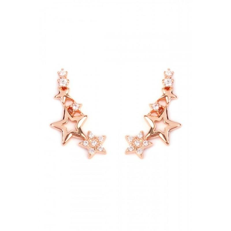Seeing Stars Crawler Earrings (Rose Gold)