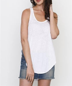 Socal Mineral Wash Burnout Racerback Tank (White)
