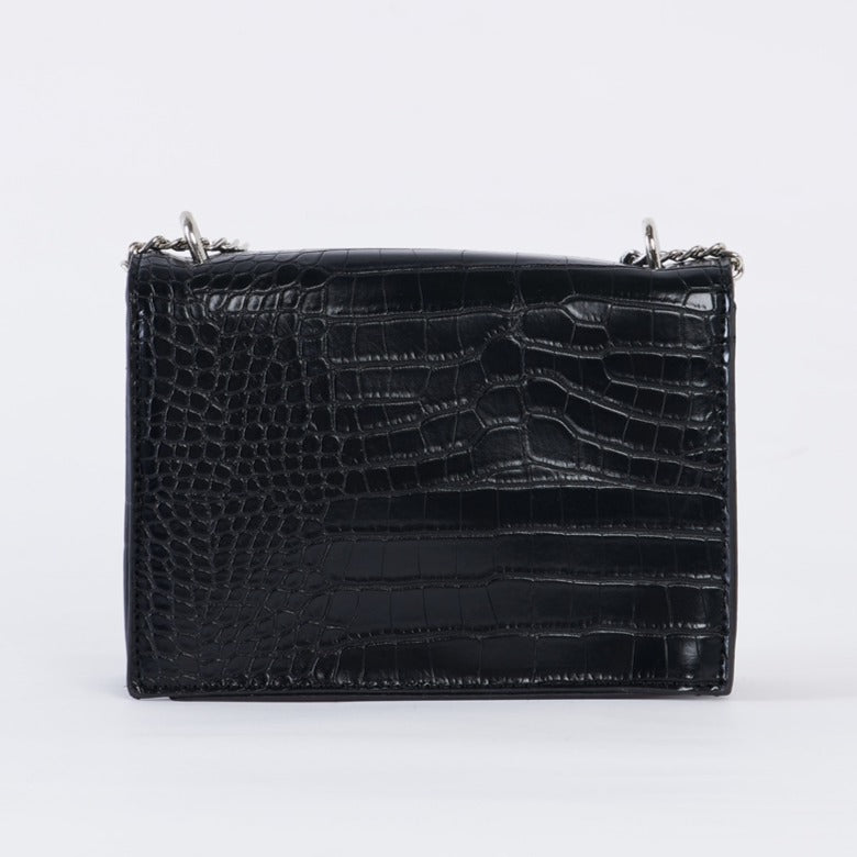 Wild Side Faux Croc Embossed Vegan Leather Bag